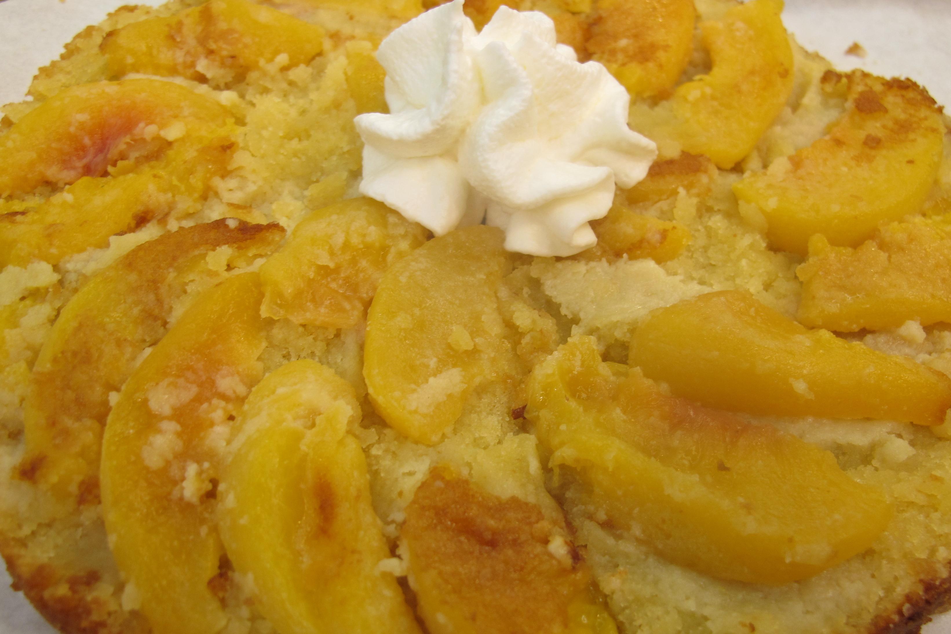 Almond Peach Butter Cake |