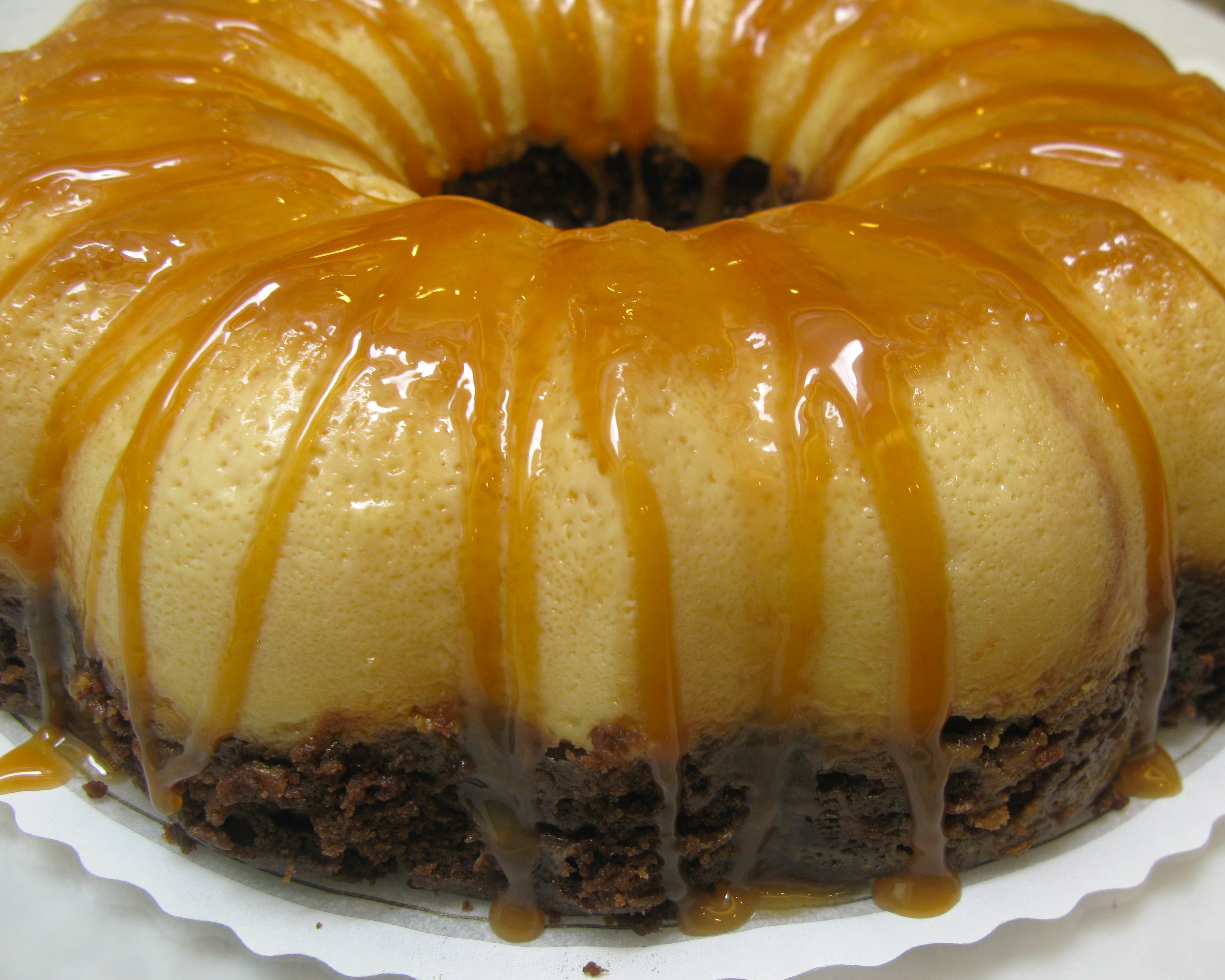 Permalink to Chocolate Cake With Leche Flan