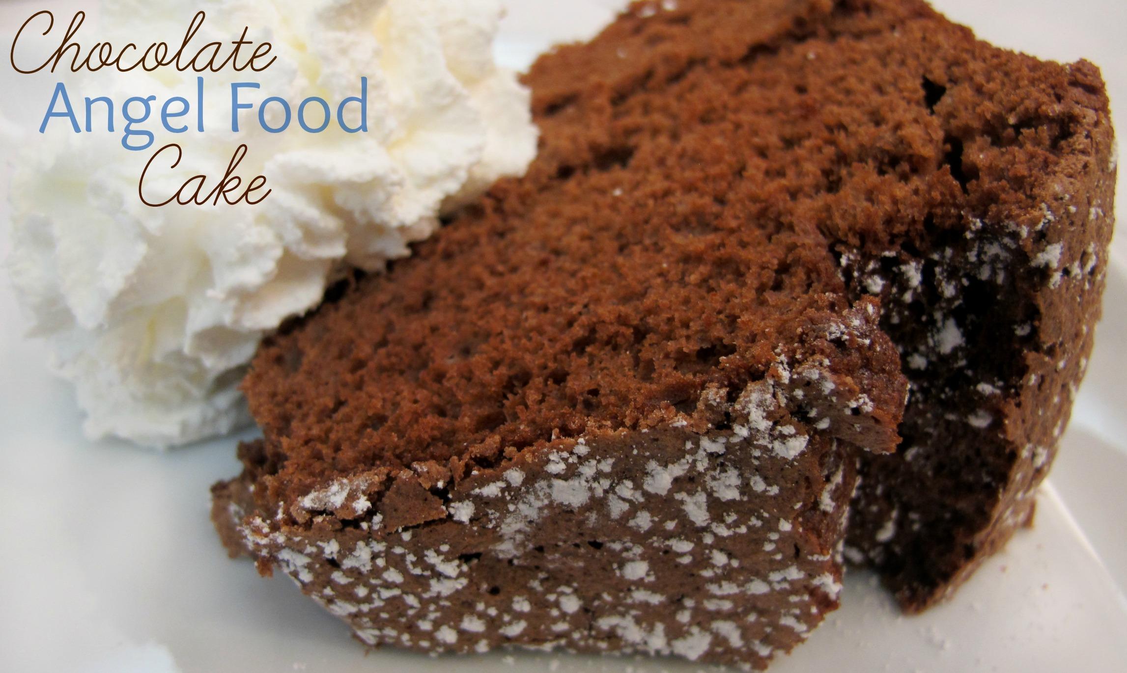 Chocolate Angel Food Cake |